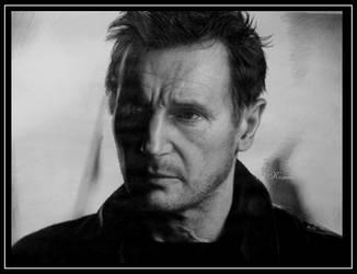 Liam Neeson by KleopatraAurel
