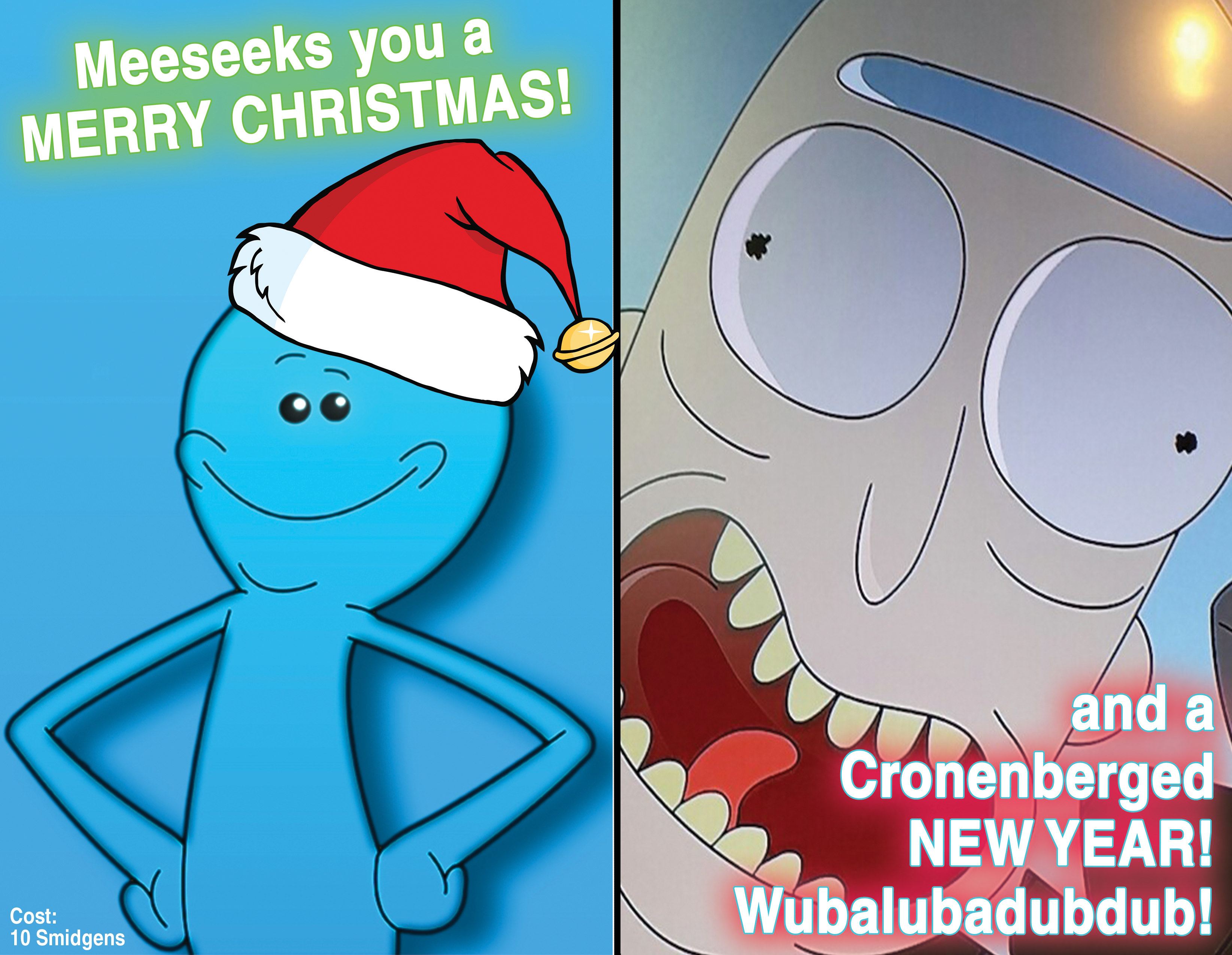 Rick and Morty Christmas Card by texans07 on DeviantArt