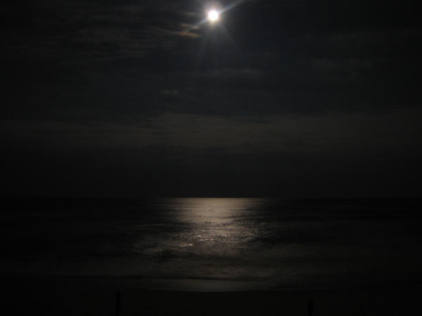 Moon on the ocean by Terazos