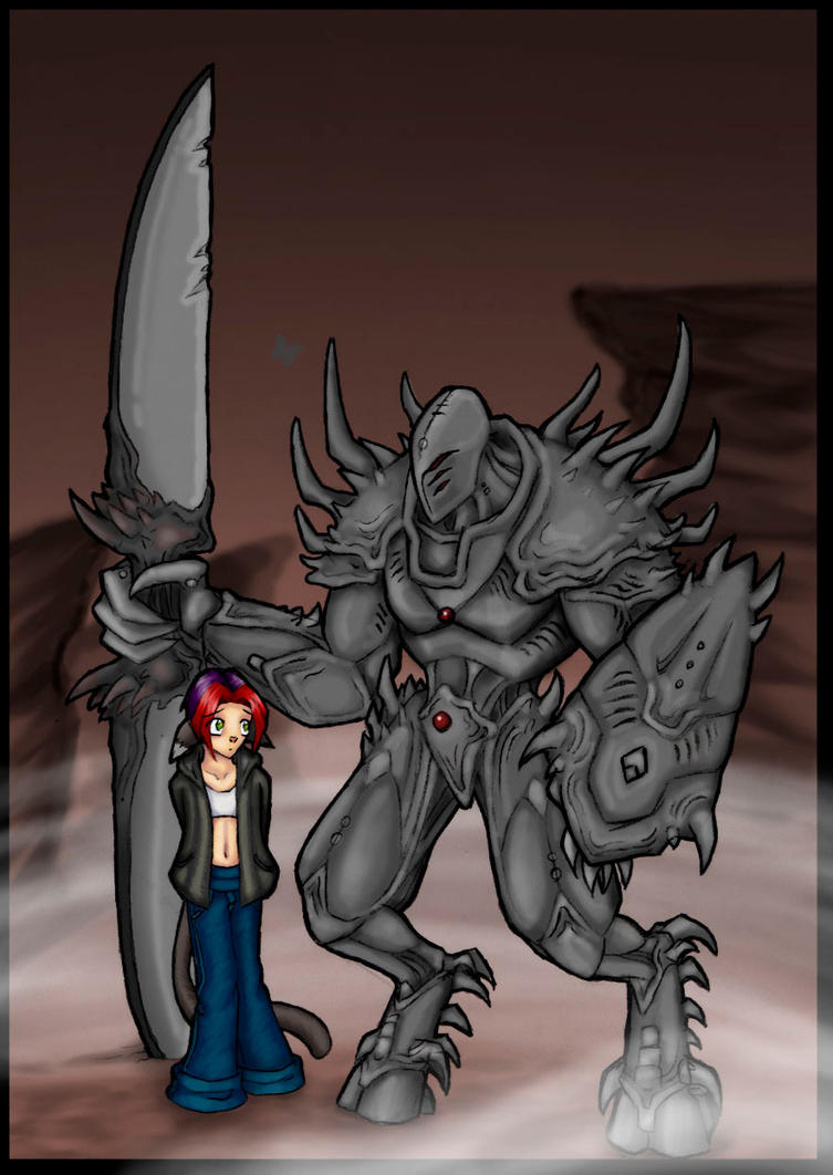 Armored demon coloured by kilara