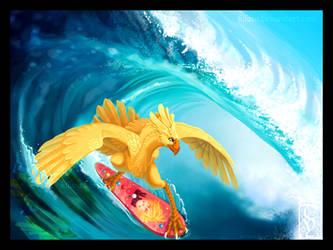 Surf De Chocobo by kilara
