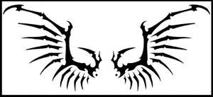 demonic angel wing tatoo