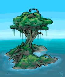 Cresent Tree by kilara