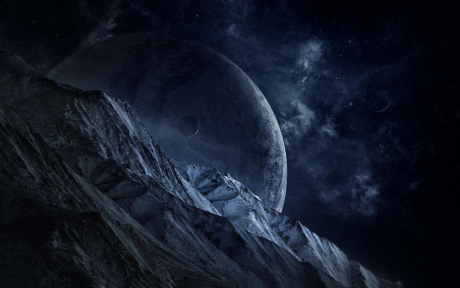 Cold space 2 5d matte painting by aker89 on deviantart for Space matte painting