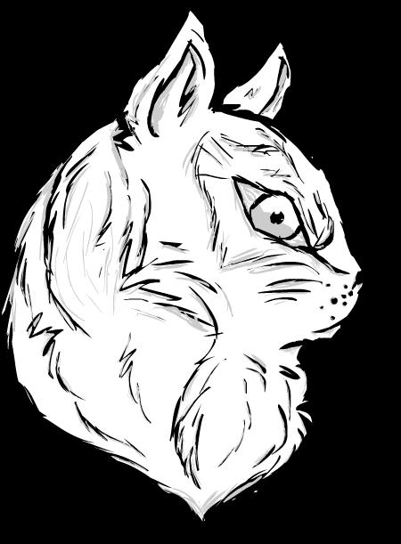 Feline Lineart by GalaxyCrowButt