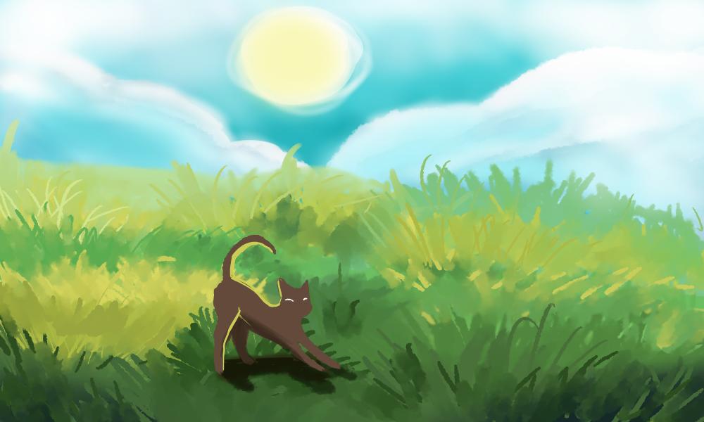 Kitty Landscape 2 by StarGazingHipster