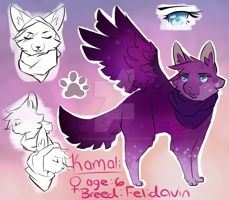 character sheet Kamali by StarGazingHipster