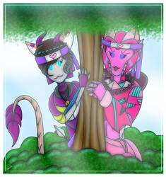 TF: Love Ninjas: Lilly and Alice by CreativeFandomMinds