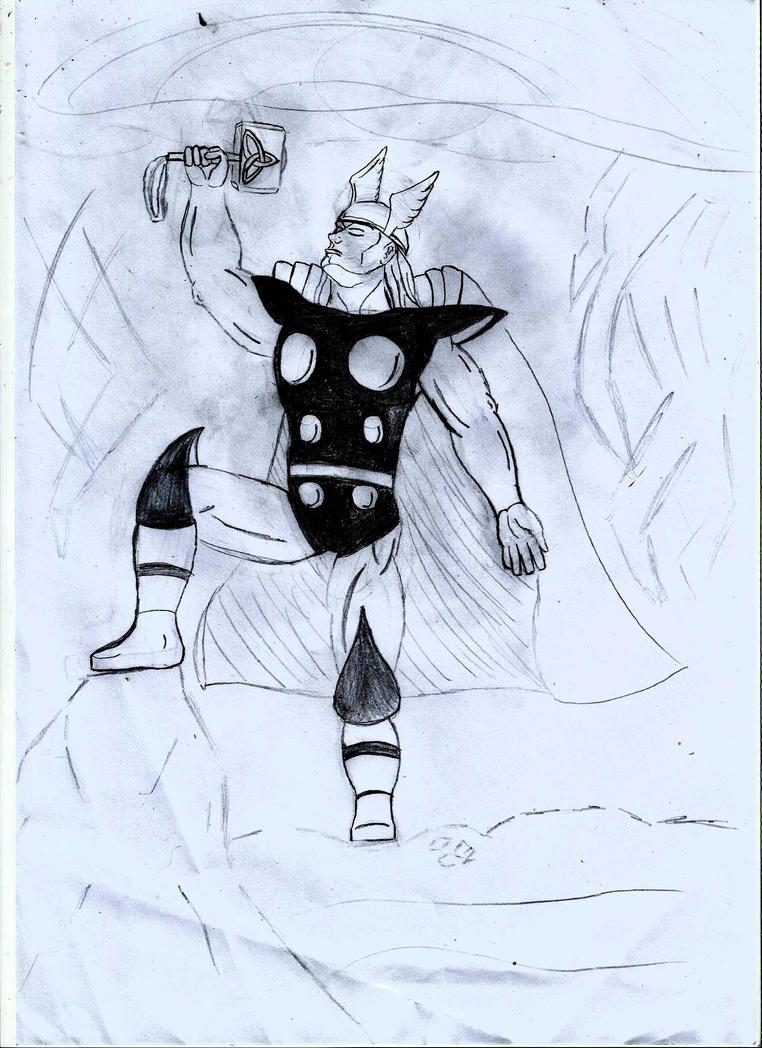 sketch/bocetos - Thor by MaxPowerX5
