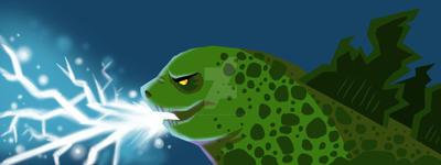 Godzilla by keelhaulkate