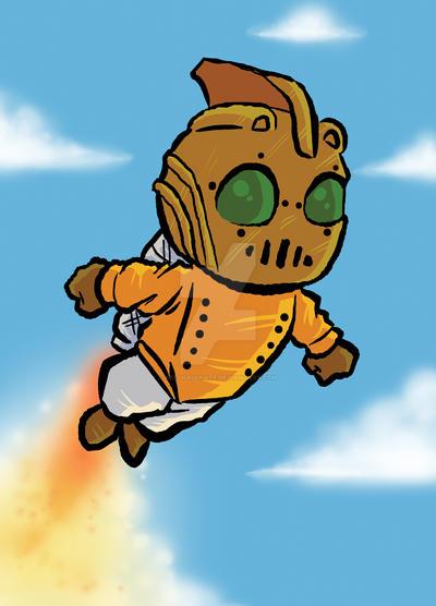 Rocketeer doodlez by keelhaulkate