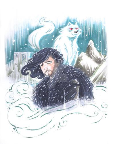 Jon-Snow-Fan-Art-09102015 by keelhaulkate