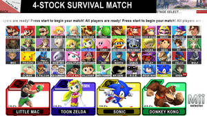 Super Smash Bros. for Wii U CHARACTER SELECT
