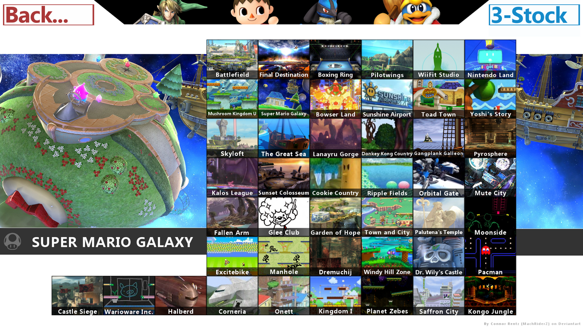 super smash bros wii u stage select by connorrentz on