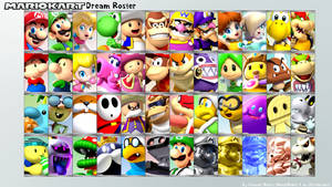 Mario Kart Dream Roster by ConnorRentz