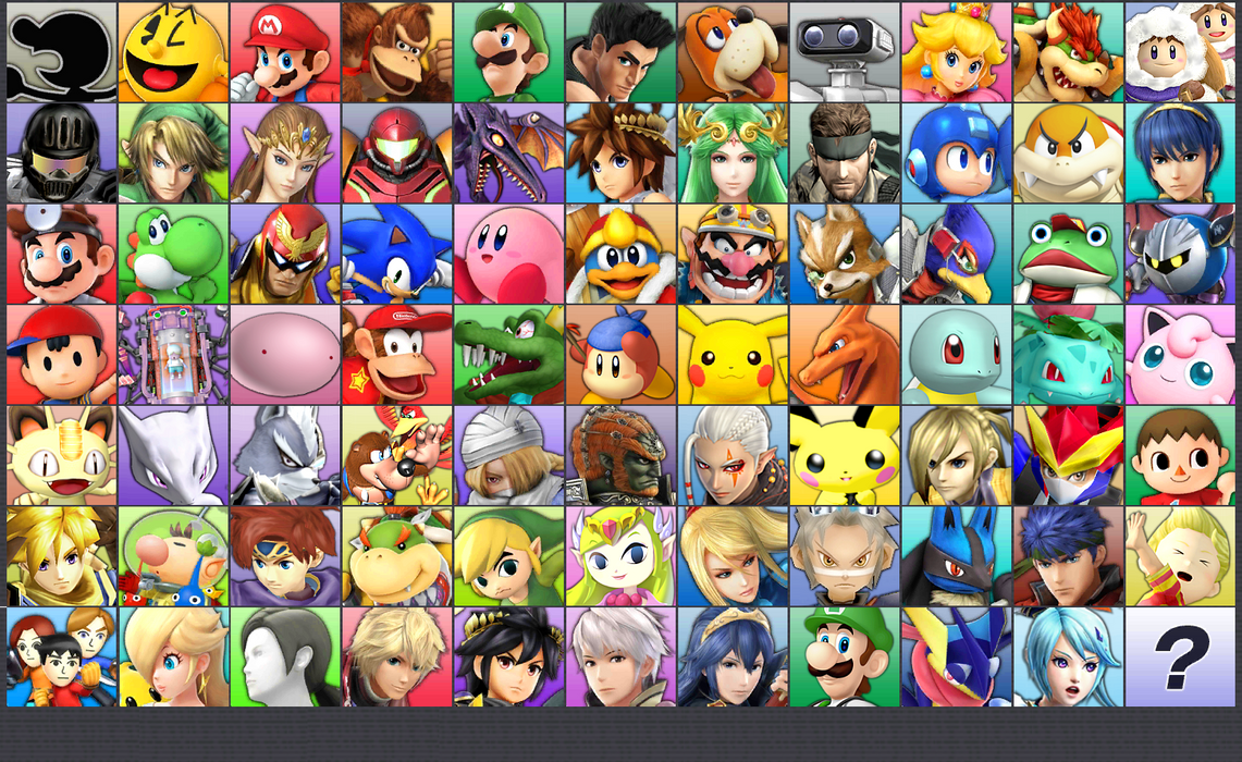 Smash Bros For 3DS With 76 Characters By Debut ConnorRentz