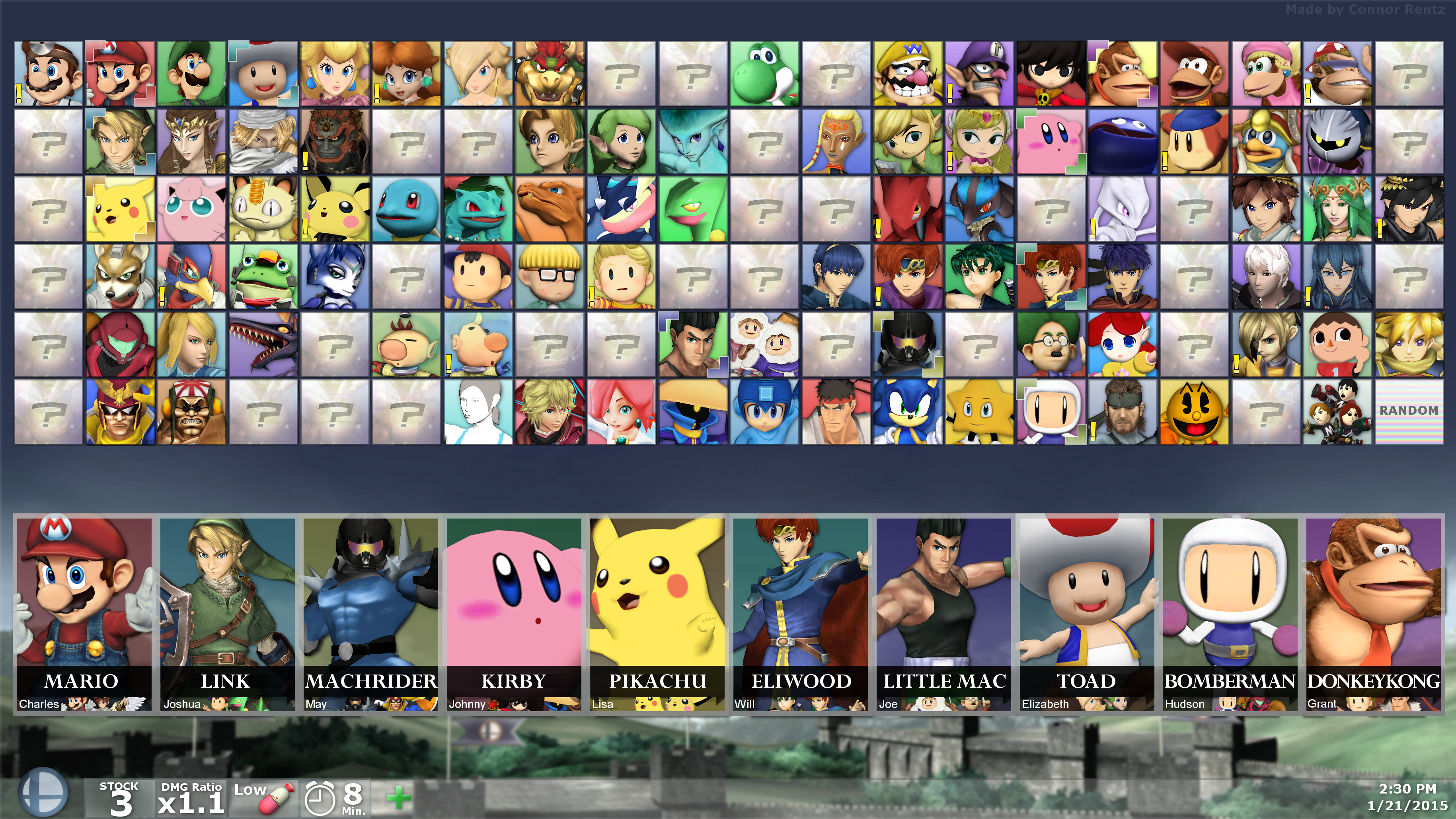 Super Smash Bros For Pc Hidden Fighters 1 By