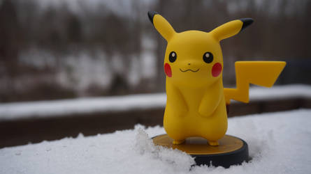 Pikachu Amiibo in Snow by ConnorRentz