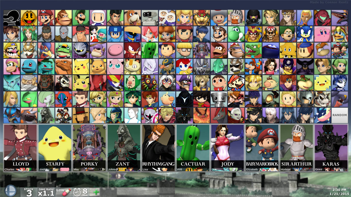 SUPER SMASH BROS. FOR PC - DLC Fighters (By Debut) by MachRiderZ