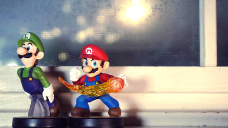 Amiibo Wallpaper - Mario Bros.