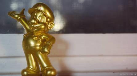 Amiibo Wallpaper - Gold Mario 1