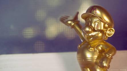 Amiibo Wallpaper - Gold Mario 2