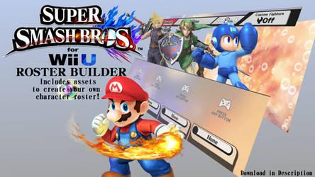 Super Smash Bros. for Wii U ROSTER BUILDER 1.0