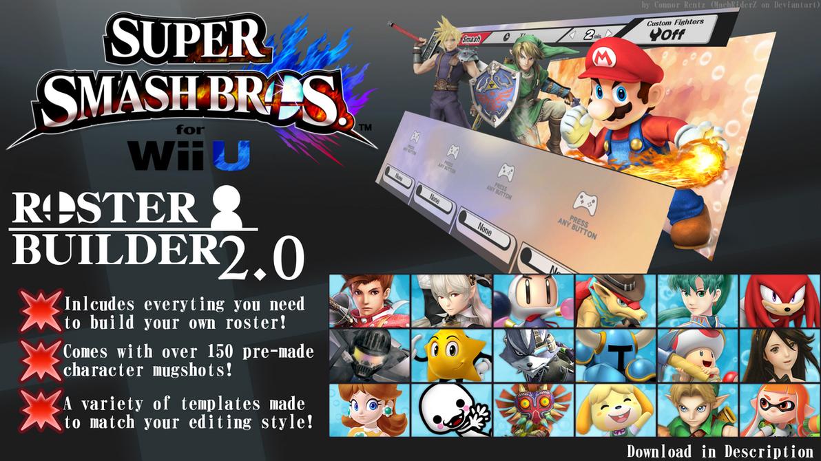 super smash bros for wii u roster builder 20 by