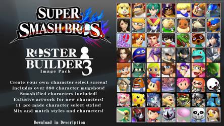Super Smash Bros. ROSTER BUILDER 3 IMAGE PACK