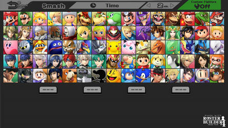 ROSTER BUILDER 4 Image Pack - 3DS Style Select! by ConnorRentz