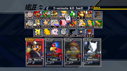 Super Smash Bros. Melee HD CSS (Dolphin DOWNLOAD)