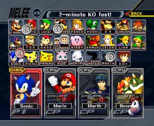 Sonic in Super Smash Bros. Melee