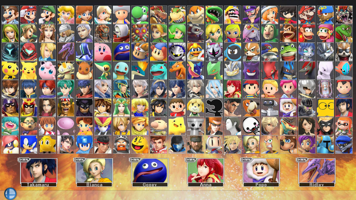 Super Smash Bros  for PC 2 - COMPLETE ROSTER by ConnorRentz on