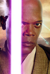 Mace Windu - The Force Awakens Style by ConnorRentz