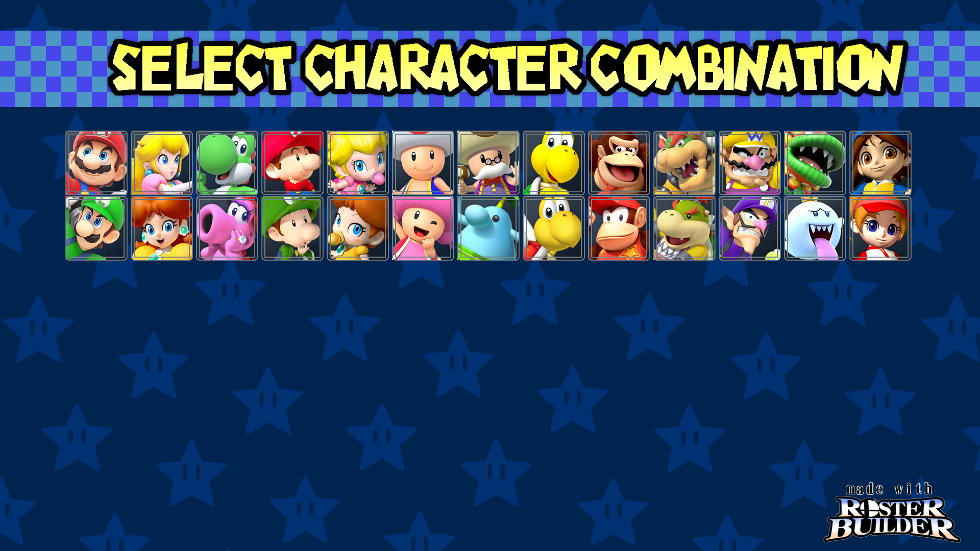 Roster Builder Mario Kart Double Dash Sample By