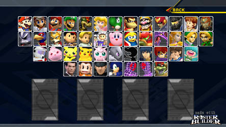 ROSTER BUILDER - Melee Sample by ConnorRentz