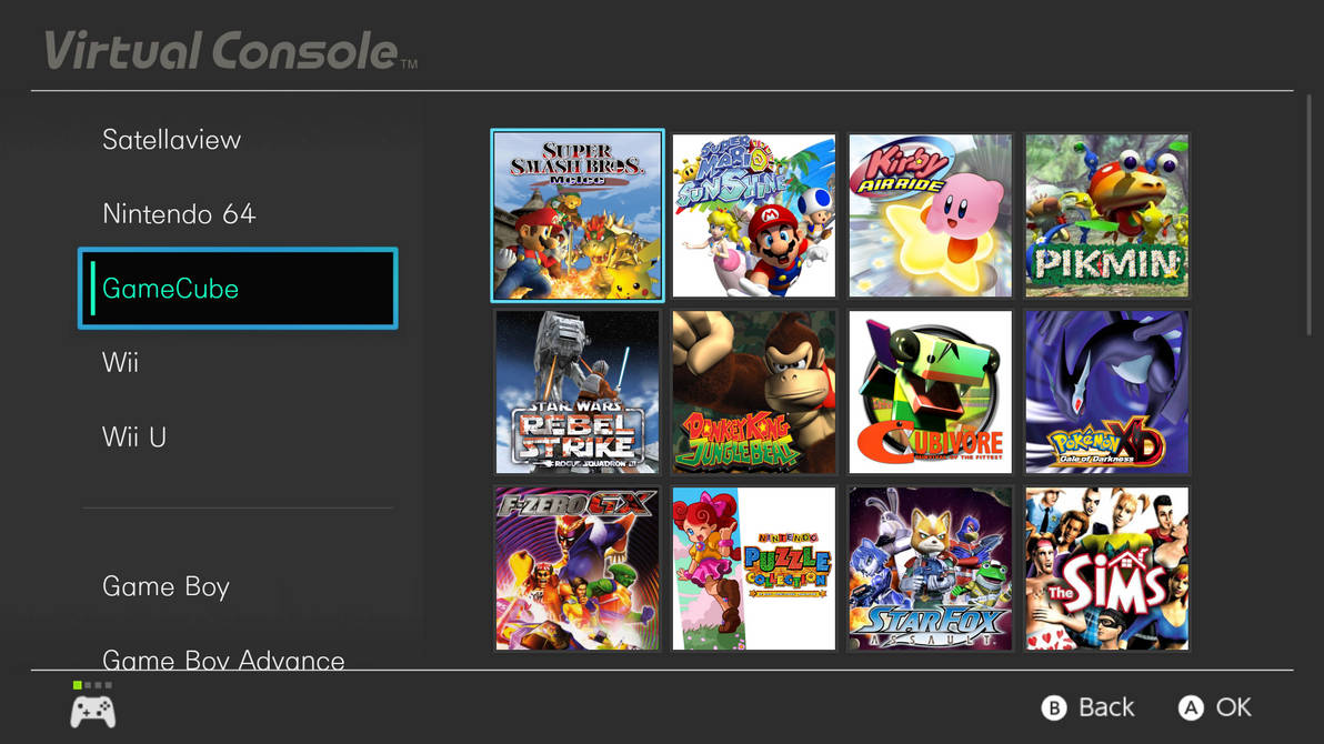 Nintendo Switch Virtual Console Mock-Up (GameCube) by ConnorRentz