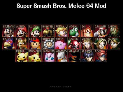 Super Smash Bros. Melee 64 - Mod (Beta)