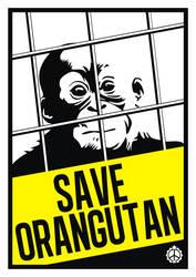 Save Orangutan poster