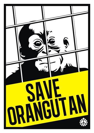Save Orangutan poster by racuntikus