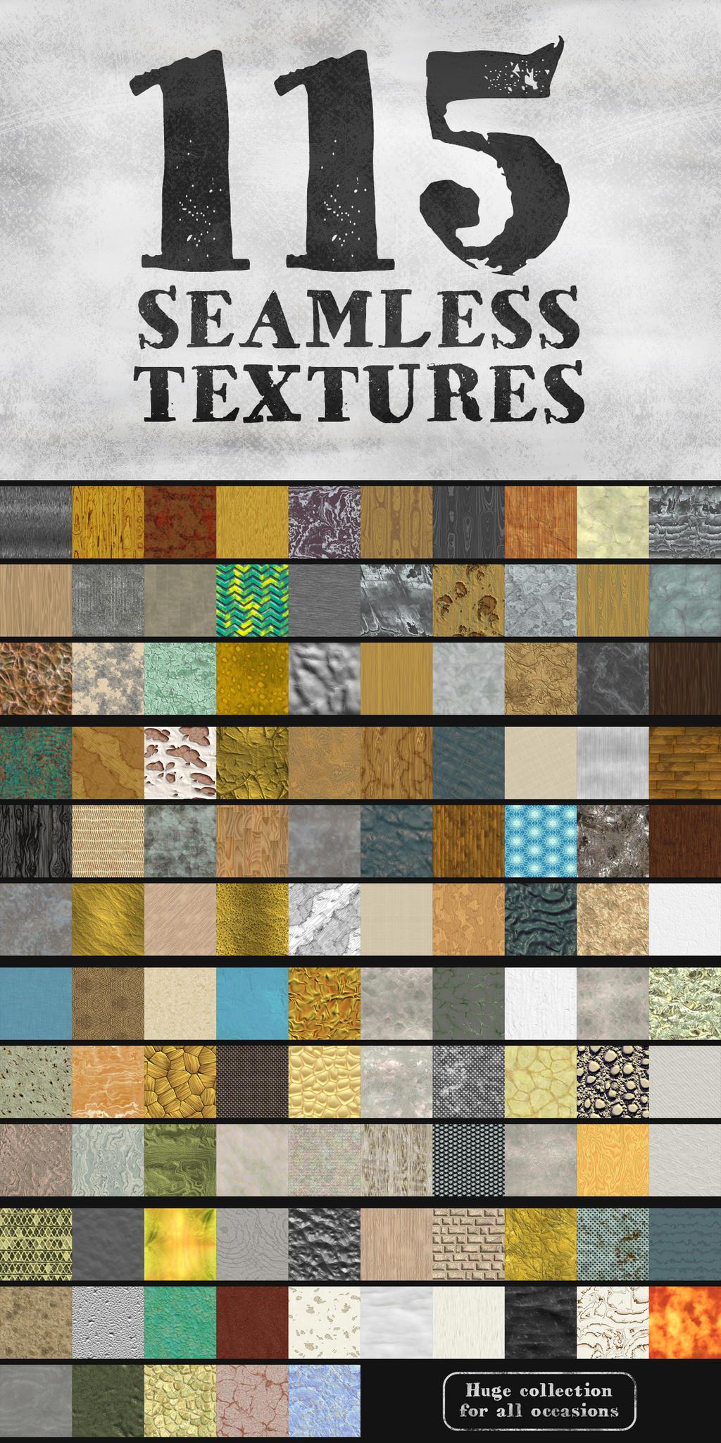115 seamless textures by artgusart