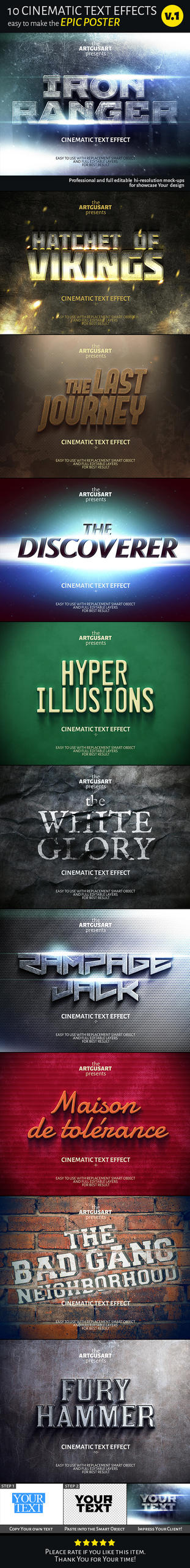 Cinematic Text Effect V 1 Main by artgusart