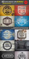 45 Vintage Logo Mock-Ups. Bundle v.1