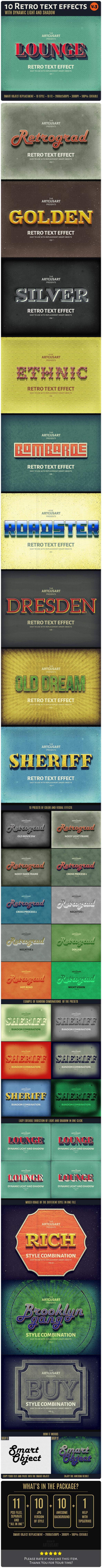 10 Retro Text Effect v.3
