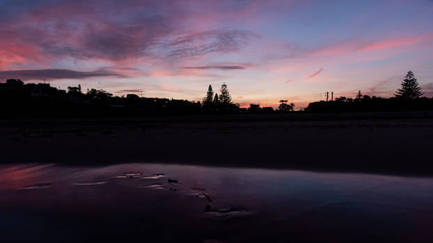 Last Light on the Beach