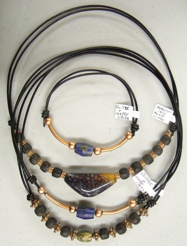 Men's chokers and a bracelet by artefaccio