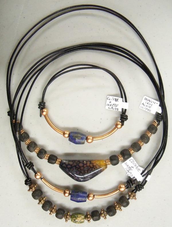 Men's chokers and a bracelet by artefaccio