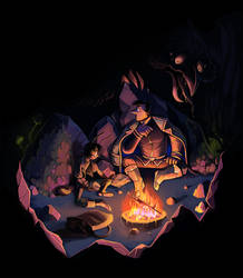 Escart: Camping by OwlyGem