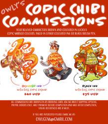 COPIC CHIBI COMMISSIONS by OwlyGem