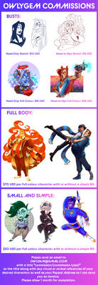 Full commissions  price list [OPEN]